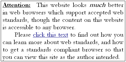 Supporting Web Standards